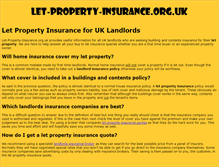 Tablet Preview of let-property-insurance.org.uk